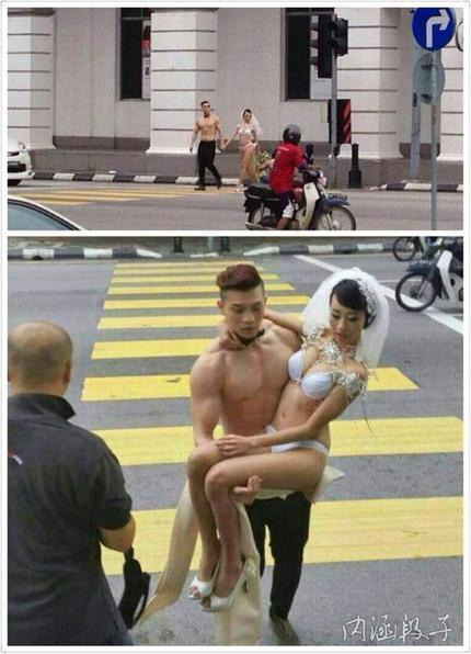 这才叫裸婚嘛!这么吊
