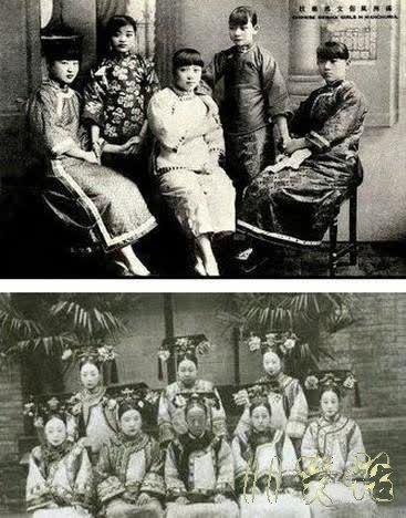 妓女因为漂亮才有资本做妓女,而皇妃之所以是皇妃是有一定的社会背景 更何况上下两个是不同妆容和不同年龄